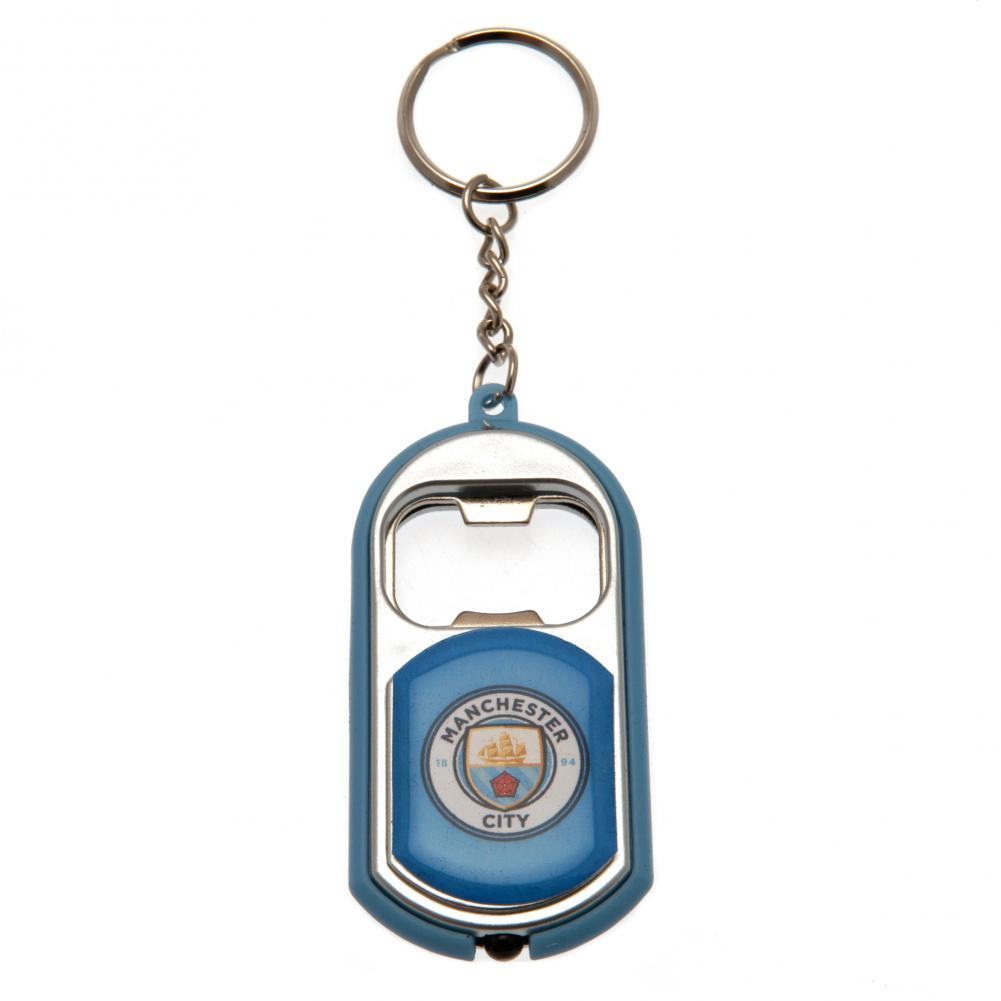 Manchester City FC Key Ring Torch Bottle Opener, Barware by Glamorous Gifts UK