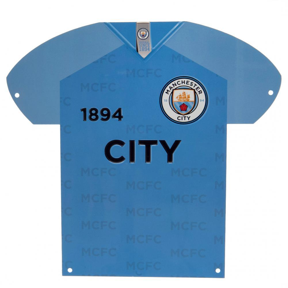 Manchester City FC Metal Shirt Sign, Collectables by Glamorous Gifts
