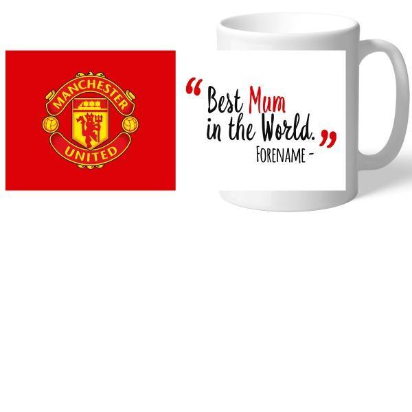 Manchester United FC Best Mum In The World Mug - Official Merchandise Gifts