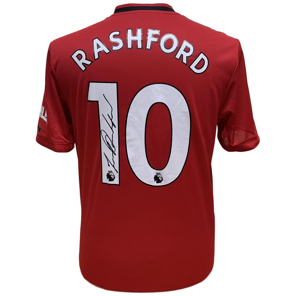 Manchester United FC Rashford Signed Shirt, Collectables by Glamorous Gifts