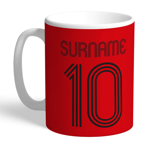 Manchester United FC Retro Shirt Mug - Official Merchandise Gifts