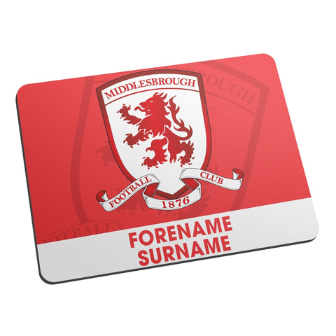 Middlesbrough Bold Crest Mouse Mat - Official Merchandise Gifts