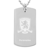 Middlesbrough FC Crest Dog Tag Pendant - Official Merchandise Gifts