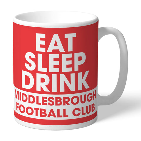 Middlesbrough FC Eat Sleep Drink Mug - Official Merchandise Gifts