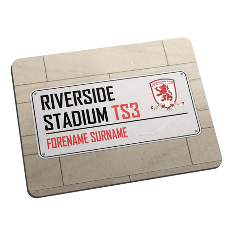 Middlesbrough FC Street Sign Mouse Mat - Official Merchandise Gifts