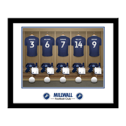 Millwall FC Dressing Room Framed Print - Official Merchandise Gifts