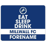 Millwall FC Eat Sleep Drink Mouse Mat - Official Merchandise Gifts