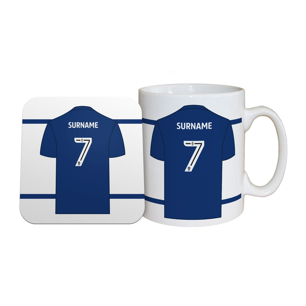 Millwall FC Shirt Mug & Coaster Set - Official Merchandise Gifts