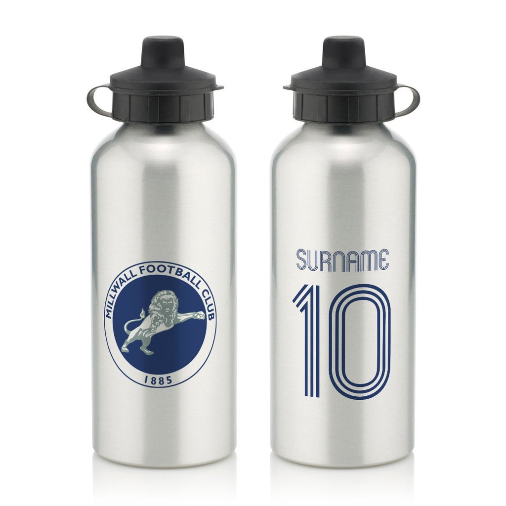 Millwall Retro Shirt Water Bottle - Official Merchandise Gifts
