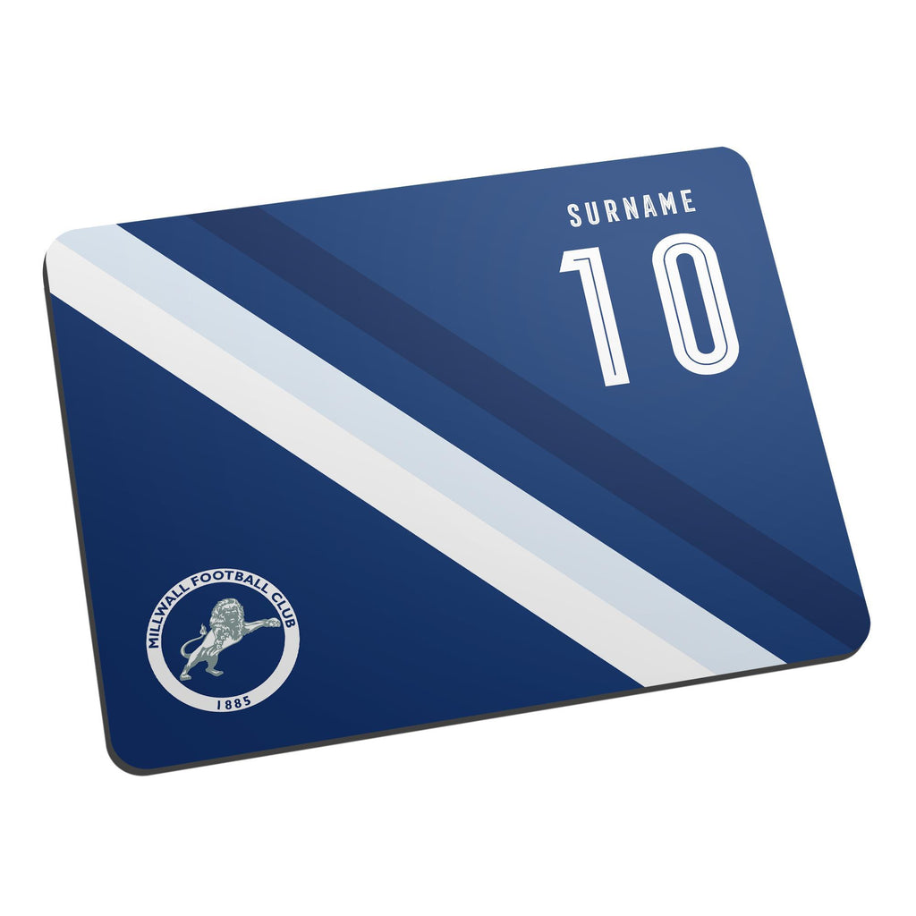 Millwall Stripe Mouse Mat - Official Merchandise Gifts