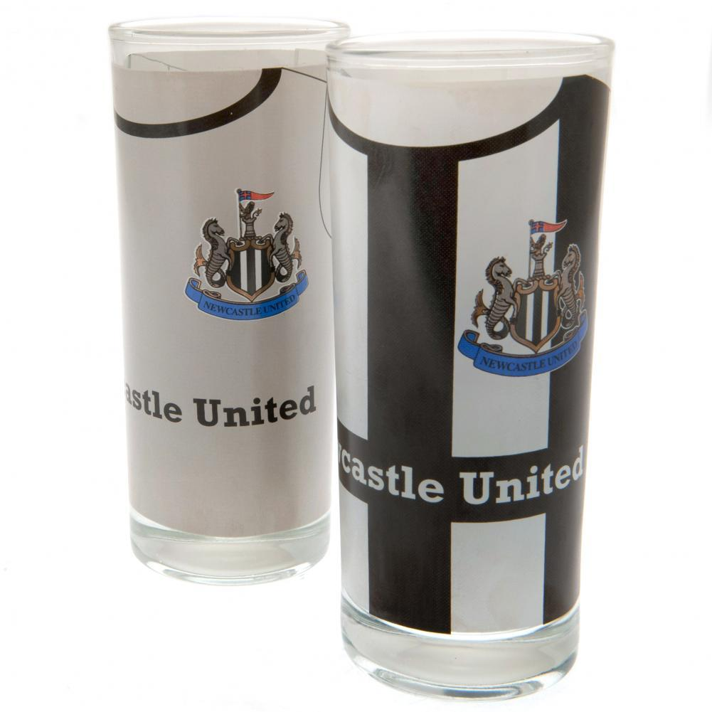 Newcastle United FC 2pk High Ball Glasses, Kitchen & Dining by Glamorous Gifts UK