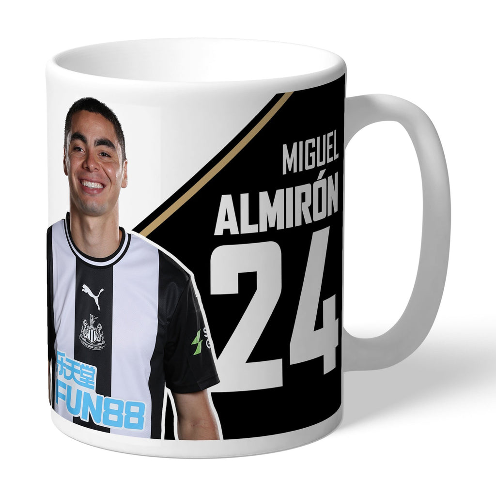 Newcastle United FC Almiron Autograph Mug - Official Merchandise Gifts