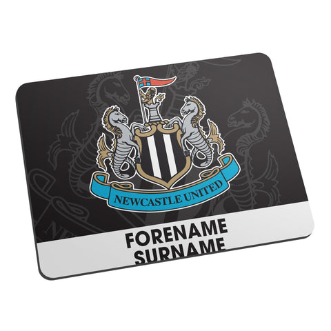 Newcastle United FC Bold Crest Mouse Mat - Official Merchandise Gifts