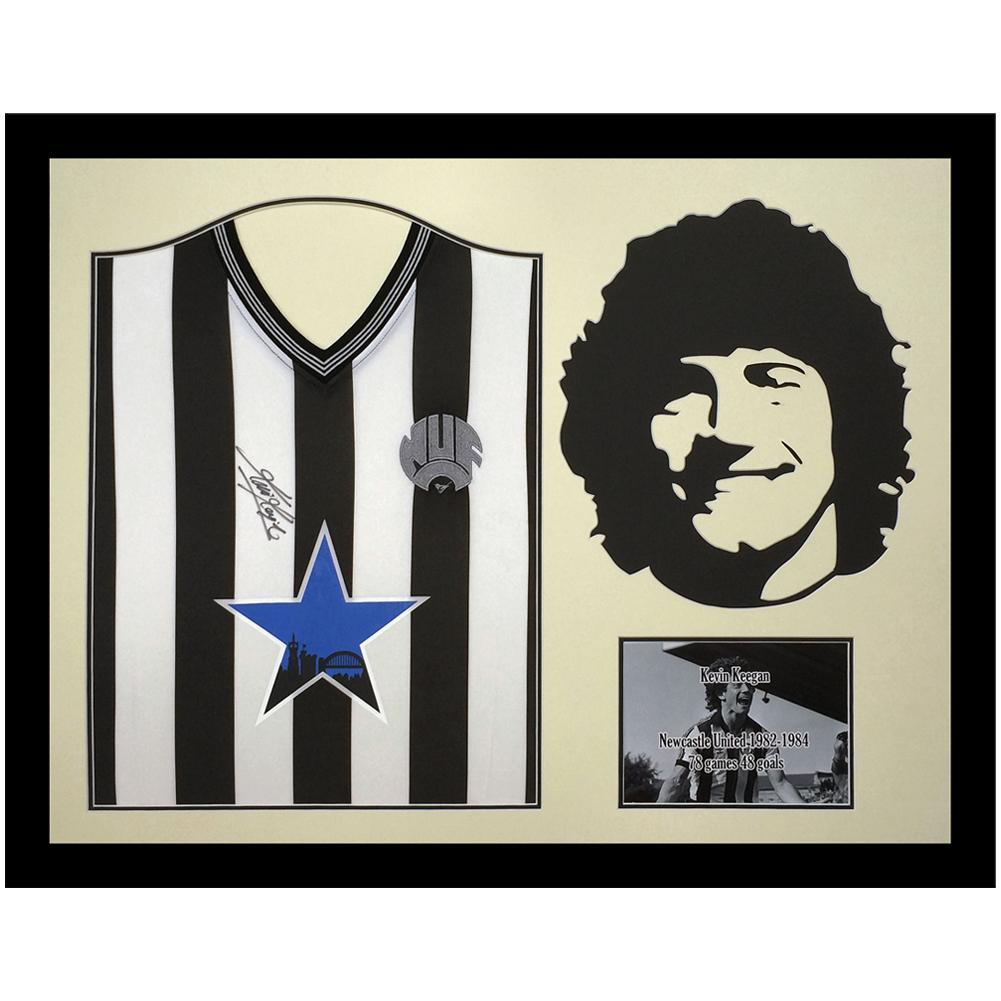 Newcastle United FC Keegan Signed Shirt Silhouette, Autographed Sports Paraphernalia by Glamorous Gifts