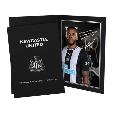 Newcastle United FC Lascelles Autograph Photo Folder - Official Merchandise Gifts