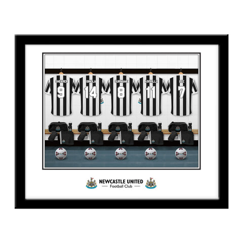 Newcastle United FC Legends Dressing Room Framed Print - Official Merchandise Gifts