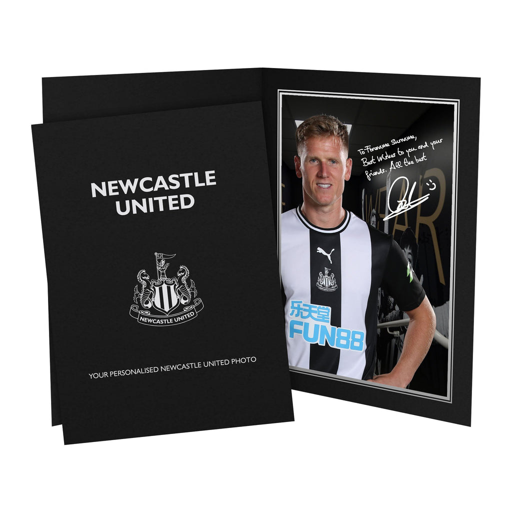 Newcastle United FC Ritchie Autograph Photo Folder - Official Merchandise Gifts