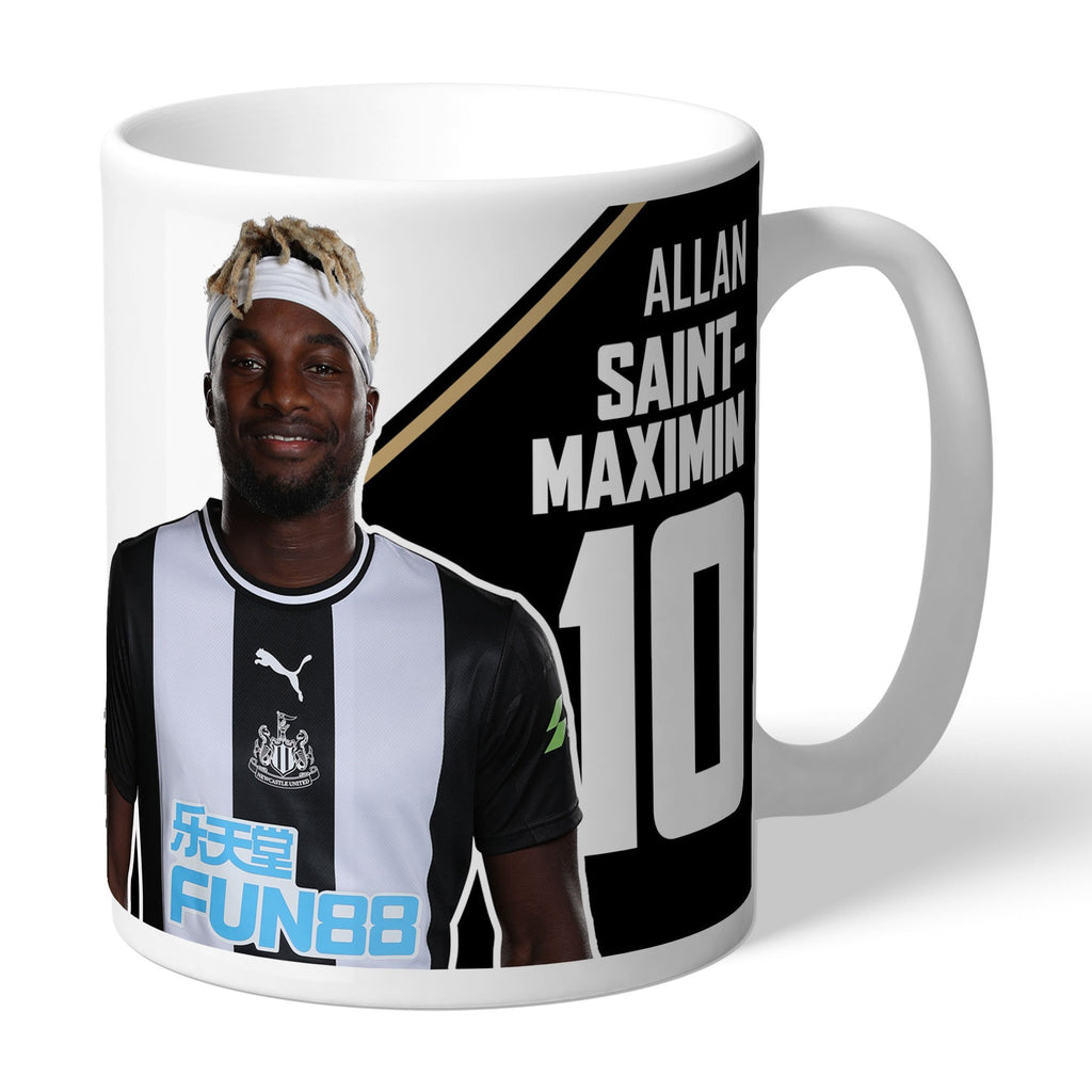 Newcastle United FC Saint-Maximin Autograph Mug - Official Merchandise Gifts