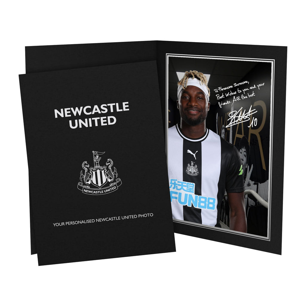 Newcastle United FC Saint-Maximin Autograph Photo Folder - Official Merchandise Gifts