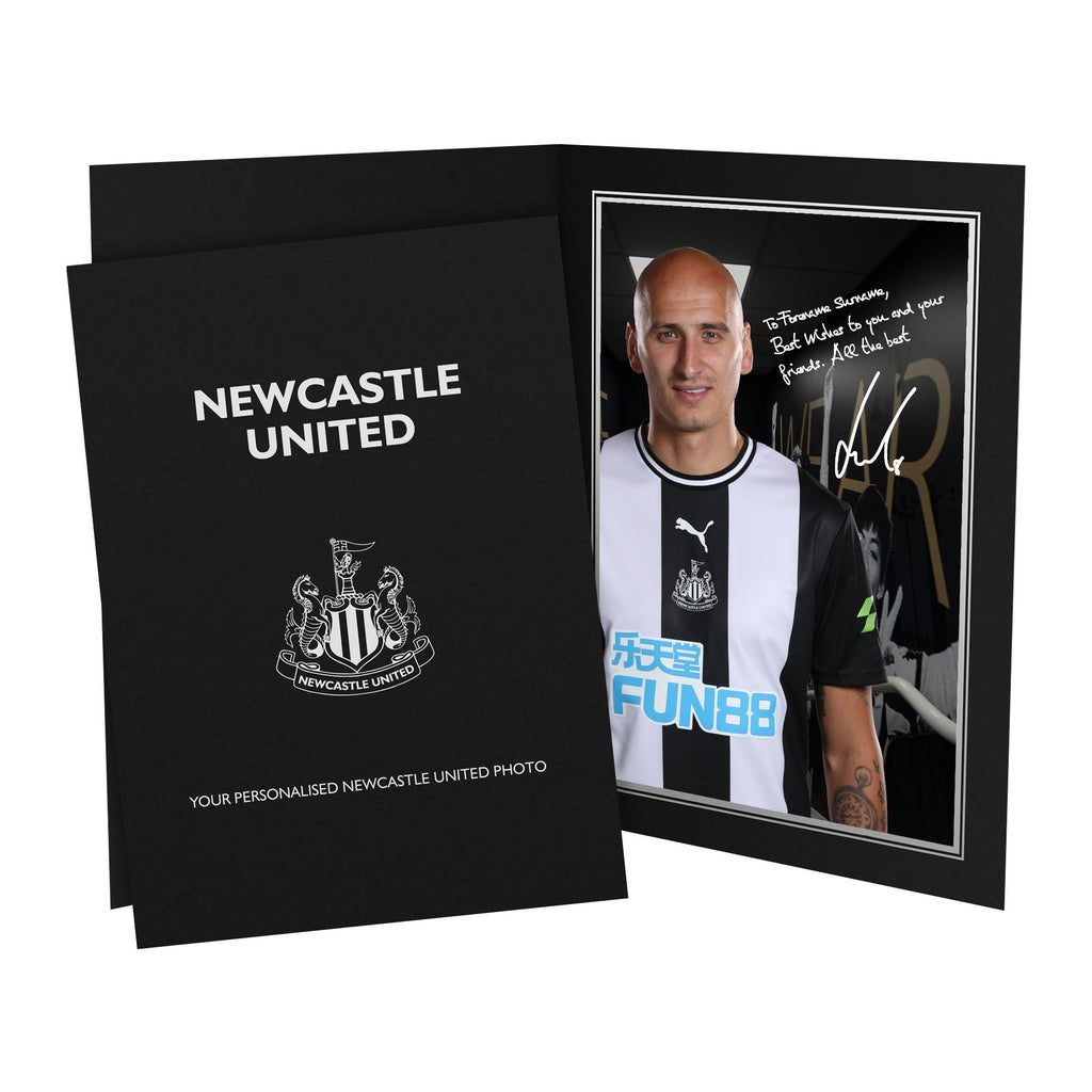 Newcastle United FC Shelvey Autograph Photo Folder - Official Merchandise Gifts