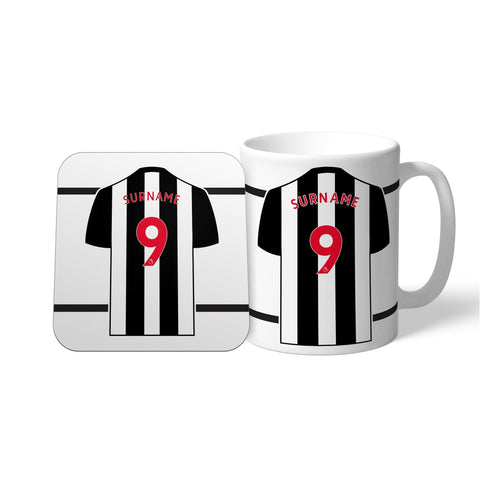 Newcastle United FC Shirt Mug & Coaster Set - Official Merchandise Gifts
