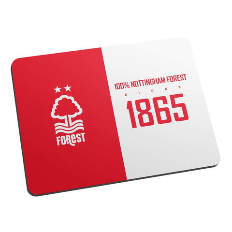 Nottingham Forest FC 100 Percent Mouse Mat - Official Merchandise Gifts