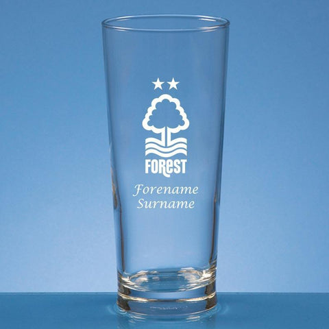 Nottingham Forest FC Crest Straight Sided Beer Glass - Official Merchandise Gifts