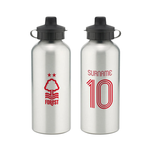 Nottingham Forest FC Retro Shirt Water Bottle - Official Merchandise Gifts