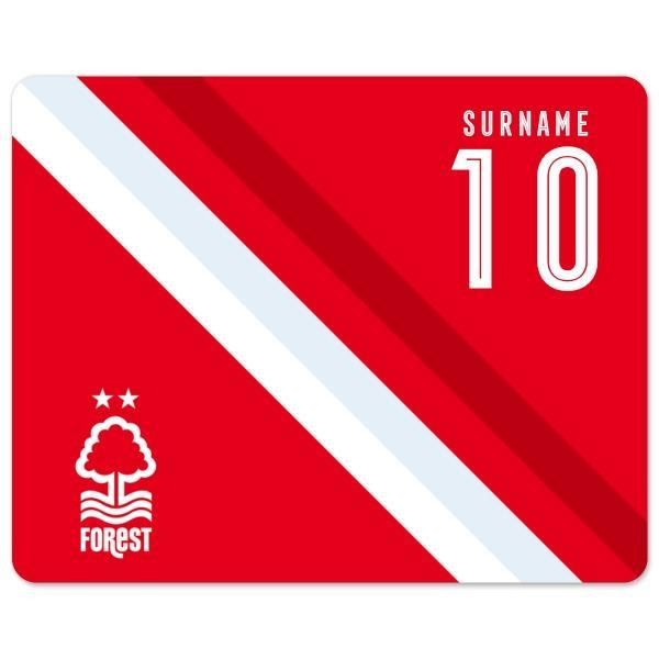 Official PERSONALISED Nottingham Forest FC Stripe Mouse Mat