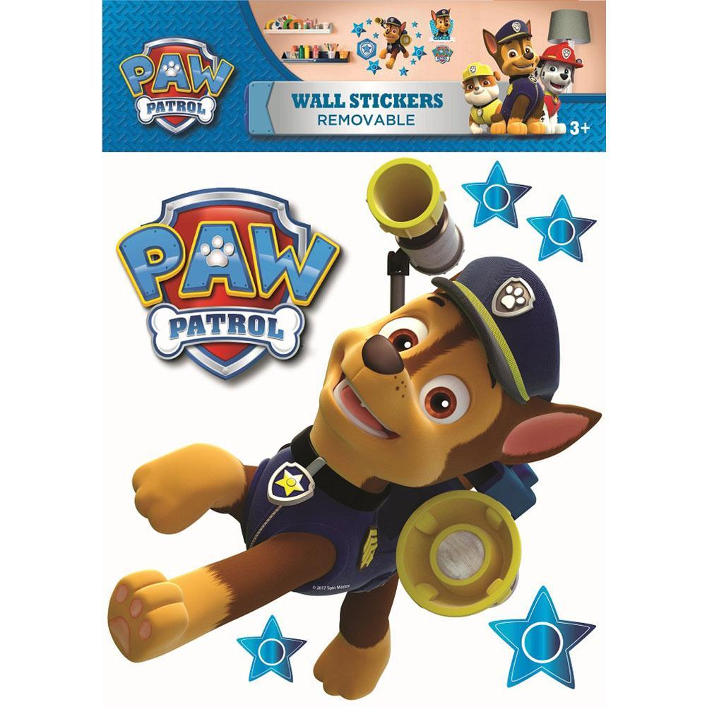 Paw Patrol Wall Sticker A3 Chase, Decorative Stickers by Glamorous Gifts
