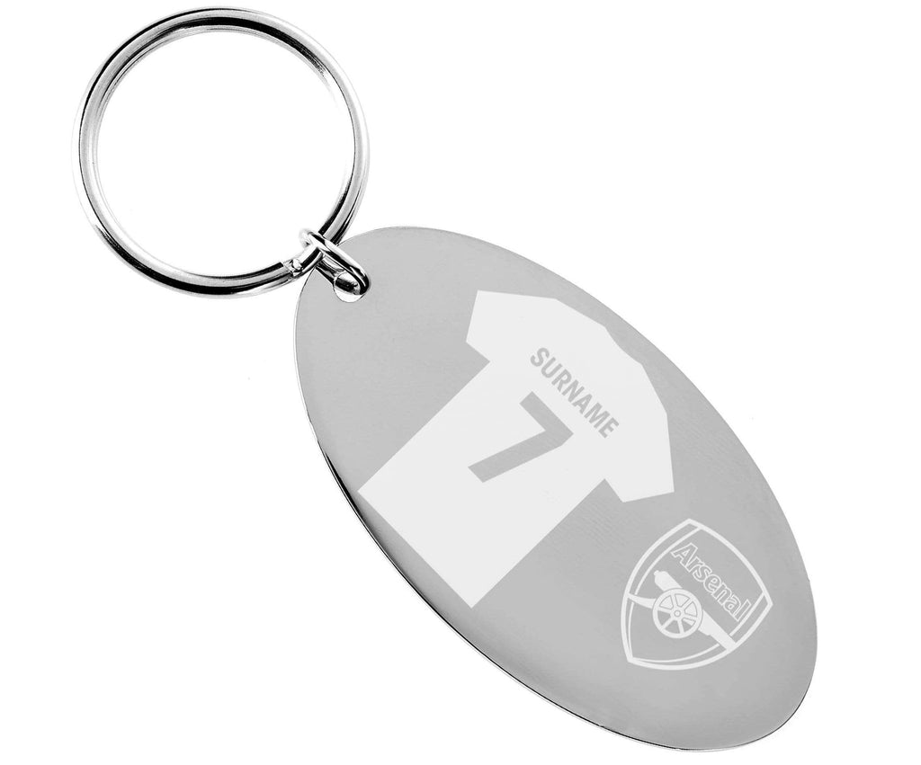 Personalised Arsenal Keyring - Official Merchandise Gifts