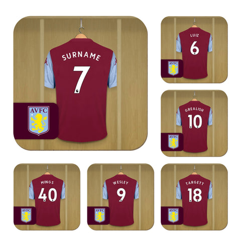 Personalised Aston Villa Coasters (Set of 6) - Official Merchandise Gifts