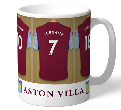 Personalised Aston Villa Dressing Room Mug - Official Merchandise Gifts