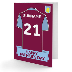 Personalised Aston Villa Fathers Day Card - Official Merchandise Gifts