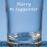 Personalised Aston Villa FC  Pint Glass - Official Merchandise Gifts