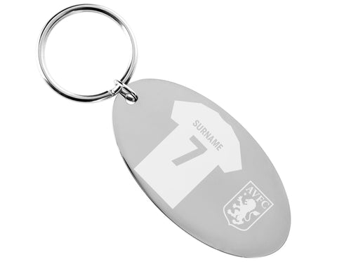 Personalised Aston Villa Keyring - Official Merchandise Gifts