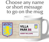 Personalised Aston Villa Mug - Street Sign - Official Merchandise Gifts