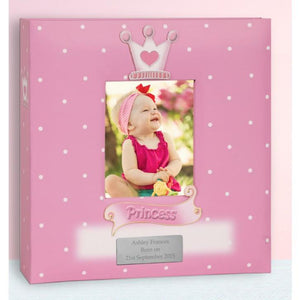 Personalised Baby Girl Photo Album - Princess Design - Official Merchandise Gifts