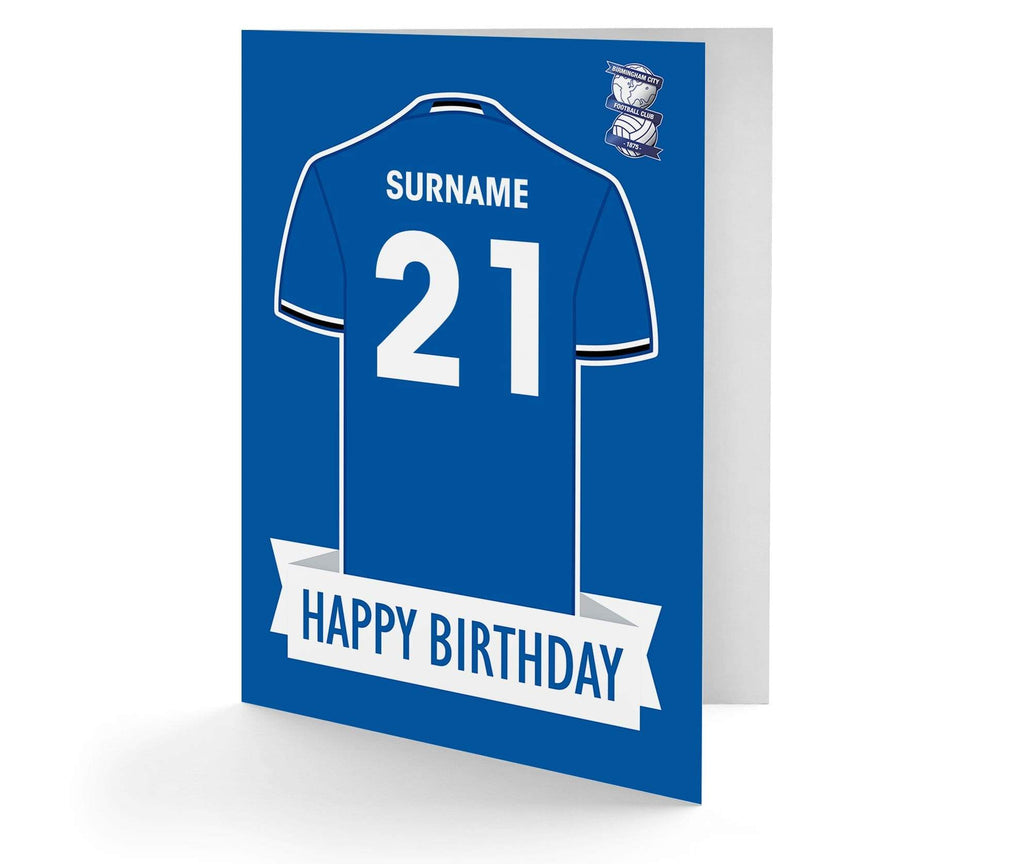 Personalised Birmingham Birthday Card - Official Merchandise Gifts