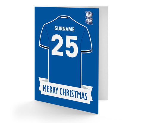 Personalised Birmingham Christmas Card - Official Merchandise Gifts