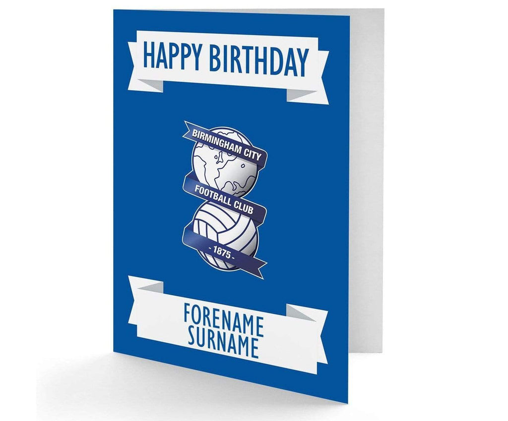 Personalised Birmingham City Birthday Card - Official Merchandise Gifts