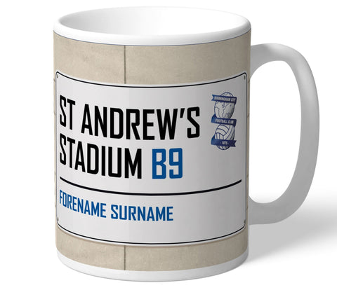 Personalised Birmingham Mug - Street Sign - Official Merchandise Gifts