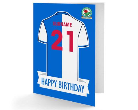 Personalised Blackburn Birthday Card - Official Merchandise Gifts