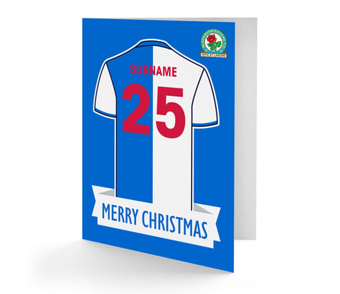 Personalised Blackburn Christmas Card - Official Merchandise Gifts