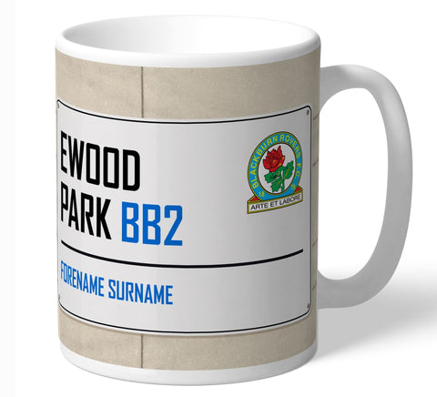 Personalised Blackburn Mug - Street Sign - Official Merchandise Gifts