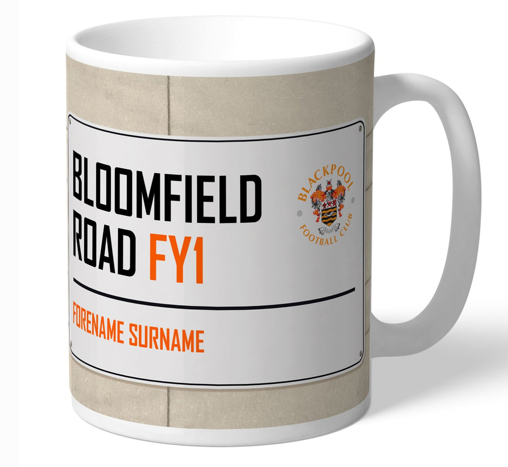 Personalised Blackpool Mug - Street Sign - Official Merchandise Gifts