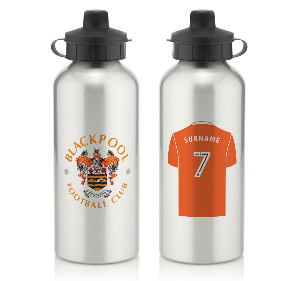 Personalised Blackpool Water Bottle - Official Merchandise Gifts