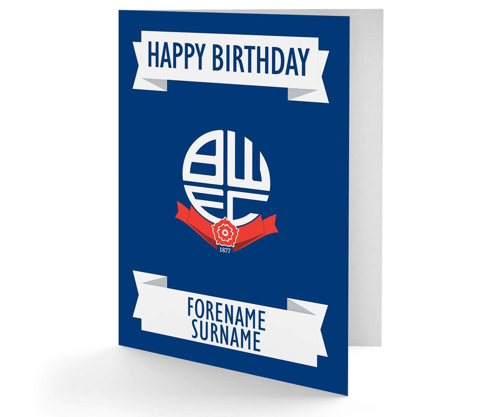 Personalised Bolton Birthday Card - Official Merchandise Gifts