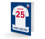 Personalised Bolton Christmas Card - Official Merchandise Gifts