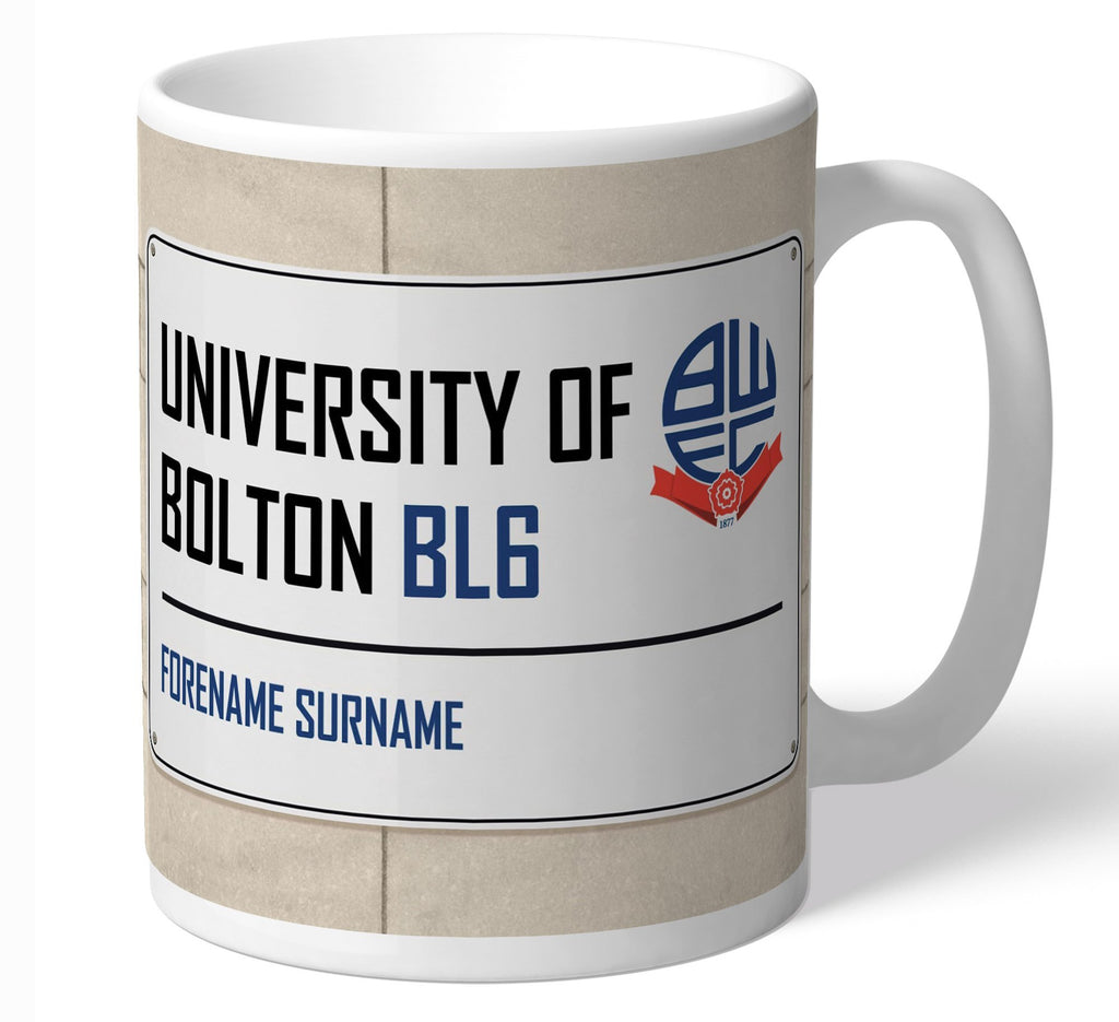 Personalised Bolton Mug - Street Sign - Official Merchandise Gifts
